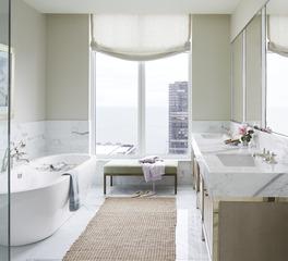Kohler One Bennett Park Chicago Illinois Hospitality Hotel Room Bathroom Design
