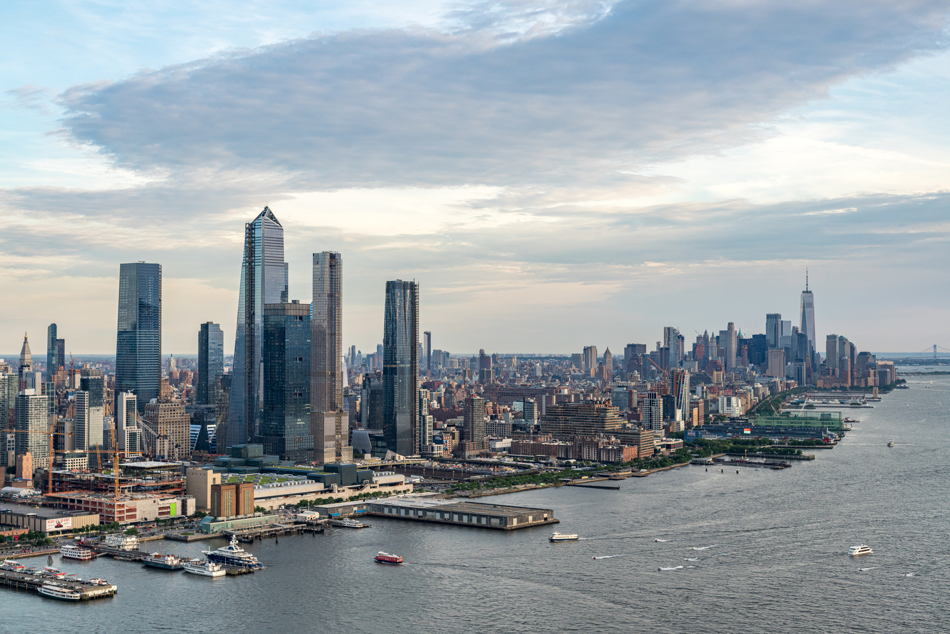 Skyline views of the private development at Hudson Yards that'll be completed in Manhattan's Far West Side.