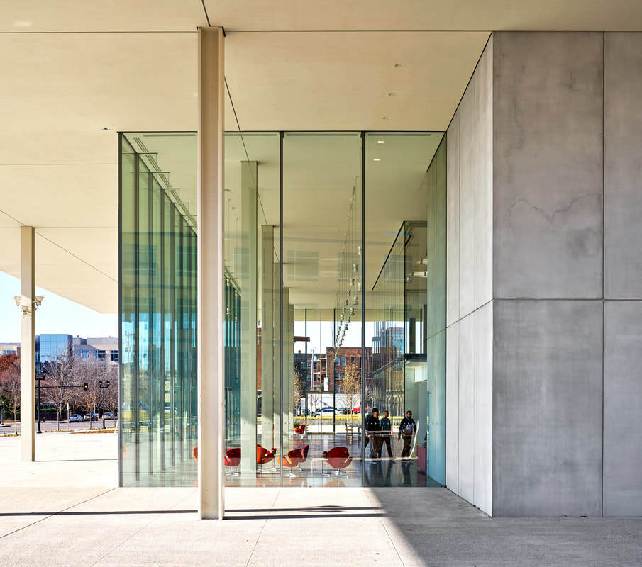 Our design team took on the challenges presented by an all-glass lobby and were able to create custom, workable solutions while maintaining aesthetic integrity. Our field crew also went the extra mile and put in numerous hours up front to prepare for successful handling of glass lites of this magnitude.