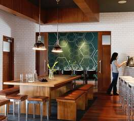 Lab Gastropub University of Southern California Antique Legends Whiskey Tan AL-3431 on bench tops 1 Designer AC Ma