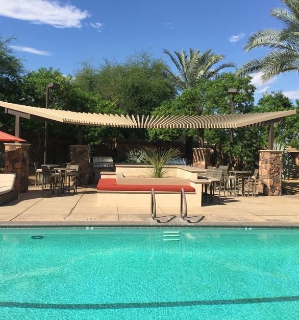Beautiful patio area with Alumawood Shade Structure