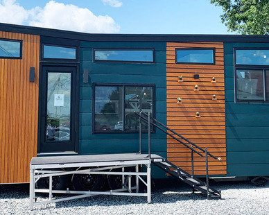 Greenwood Tiny Home, located in Ohio, features Lamboo® Elements™ - Exterior Components.