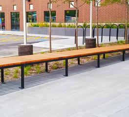 Lamboo Metro Transit Police Station Exterior Bench Slats