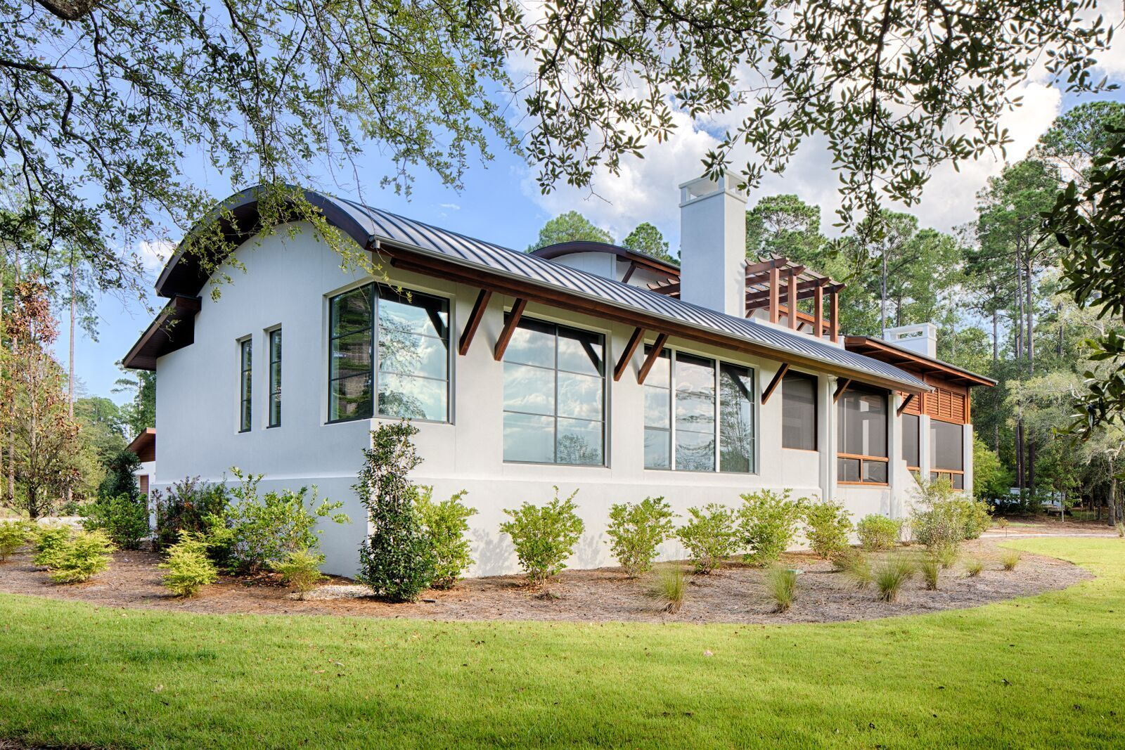 Featured here at the Okatie Residence in SC are Lamboo® Structure™ - Beams.