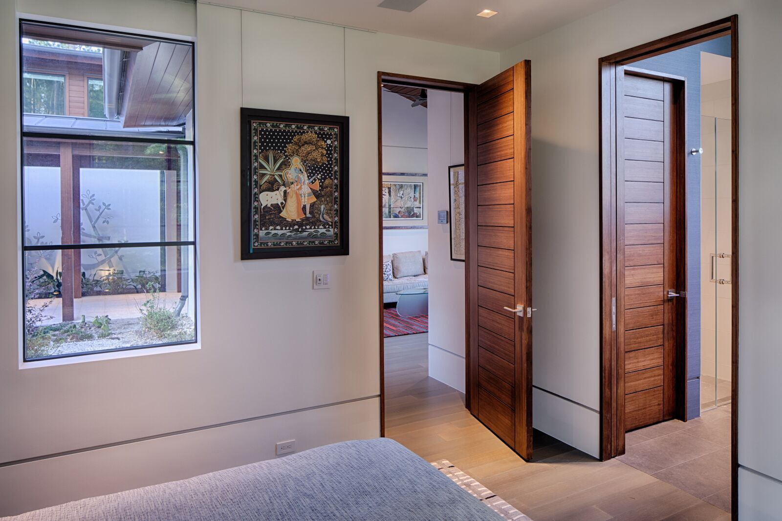 Featured here at the Okatie Residence is Lamboo® Vue™ - Interior Doors.
