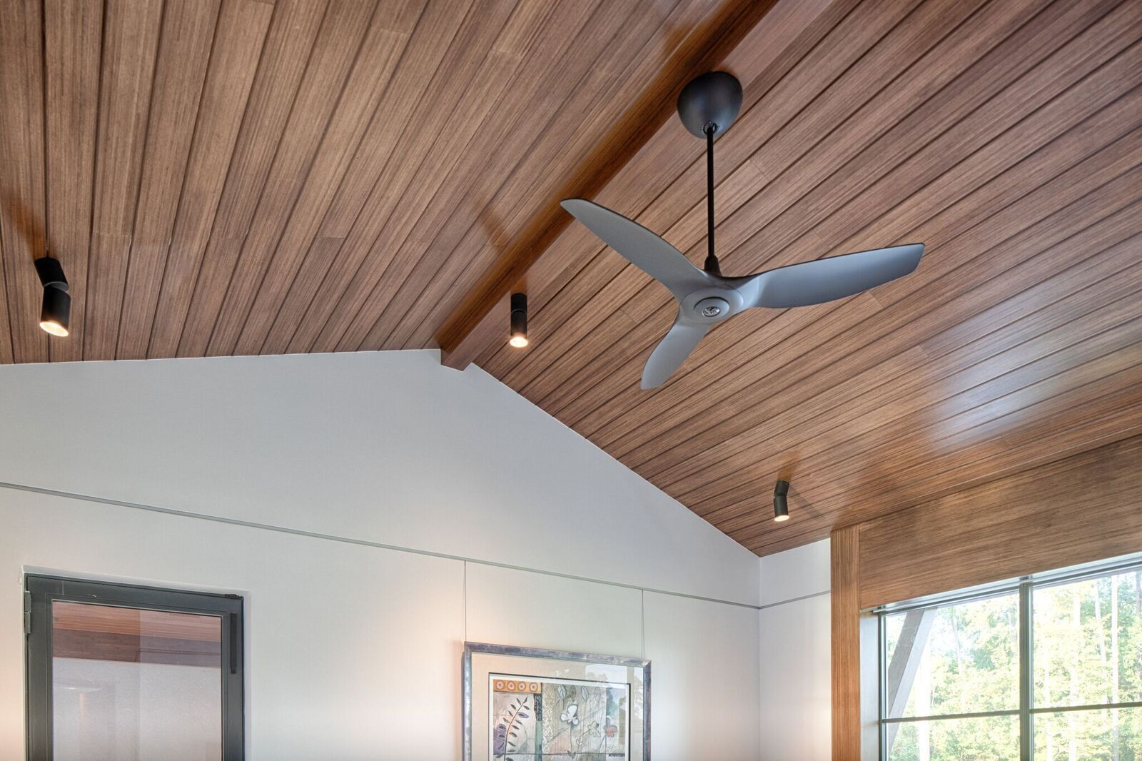Lamboo® Skyline™ - Interior Linear Ceiling System is seen throughout  the interior of the Okatie Residence.