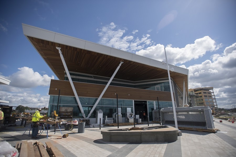 Vancouver Waterfront, located in Vancouver, Washington, features Lamboo® Rainscreen™ - Exterior Cladding on the exterior.