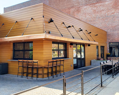 Featured here at Western Reserve Distillery, located in Lakewood, Ohio, is Lamboo® Rainscreen™ - Exterior Cladding.