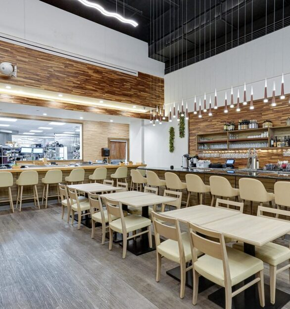 Rinka, an authentic japanese restaurant worked with ASI to add their designer laminate and eco-panels.