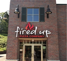 Landmark Architectural Signs Fired Up Pizza Company