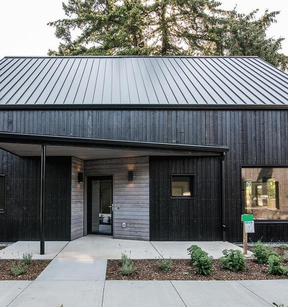 This storefront is made out of solid wood siding from Pioneer Millworks.  Designed & Built by: Green Hammer Photographer: 22 Pages Photography