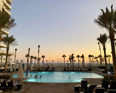 LandStudio 360 provided landscape architecture for the pool area at The Waterfront Beach Resort by Hilton Hotel