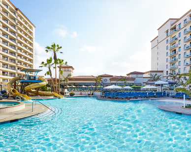 The expansion of the Waterfront Beach Resort included a 4,775 SF family pool.