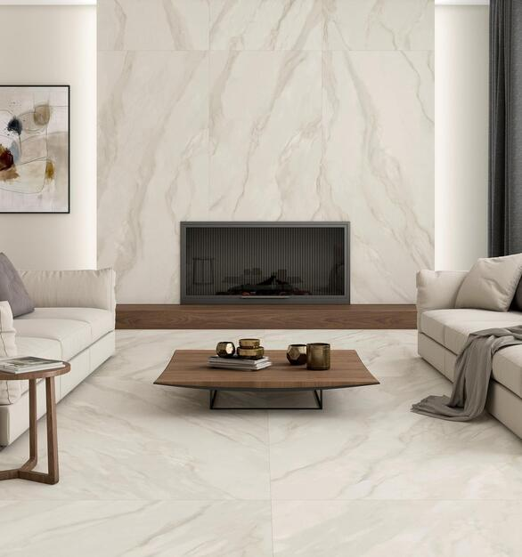 This 48 x 106 tile with a matte finish is a durable flooring option that can withstand heavy traffic, resist fading caused by sunlight and won't stain from spills.   Not only does it eliminate the time, stress, and mess of traditional tile installation, it offers a stylish and durable solution for any space.