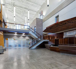Large office reception and lobby designs