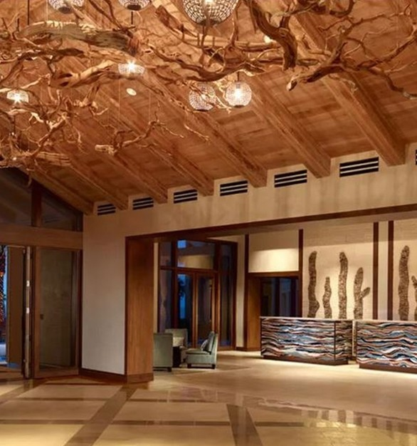 LDF Silk used Ghostwood and suspended it from the ceiling.
