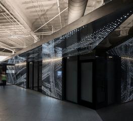 LEDCONN Connexion Burbank California Luxfit LED Light Panels Lobby Elevator Bank