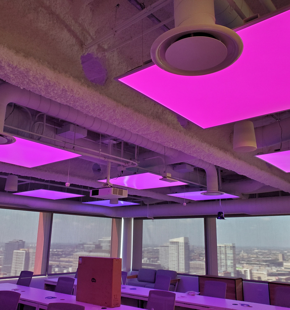 LUXFIT™ RGB LED Light Panel has a frameless design and provides even lighting for any space. With a slim and thin design, they are able to customized to any shape you desire.