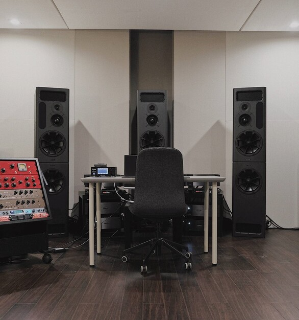 Create some great music at this recording studio.  QuietRock created a soundproofed room with their drywall.