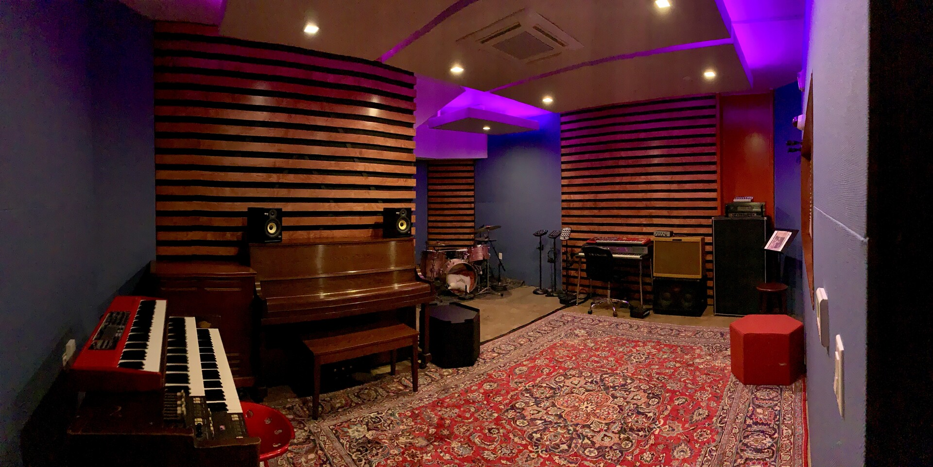 Create some great music with your band in this recording studio.  QuietRock helped LemonTree create a soundproof studio with their sound reducing drywall, putty and sealant.