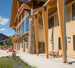 LHB Architects Giants Ridge Ski Chalet and Event Center Exterior Patio