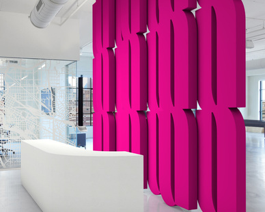 After 20 years of designing commercial interior graphic environments, Merick Reed is designing new and exciting art installations. He's working in bold fluorescent colors and minimalist modern geometry. Give your space new life with vibrant and dramatic art!