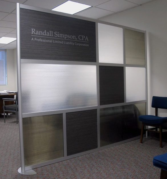 Framewall by Loftwall features interchangeable design panels with standard and custom finishes.