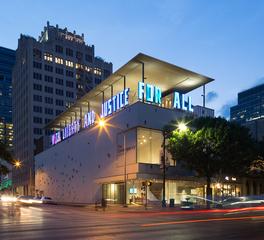 LTL Architects The ContemporAry Austin Jones Center Exterior Evening