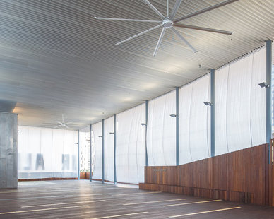 The transformed private exterior space at The ContemporAry Austin - Jones Center in Austin, Texas, by LTL Architects.