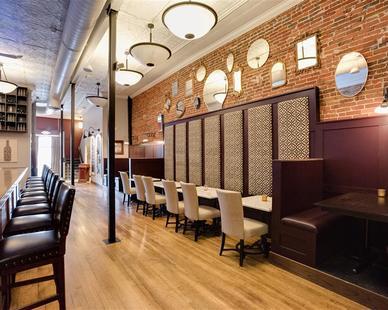 Great speakeasy style wine bar at The Oaks Wine Bar by Scott Build