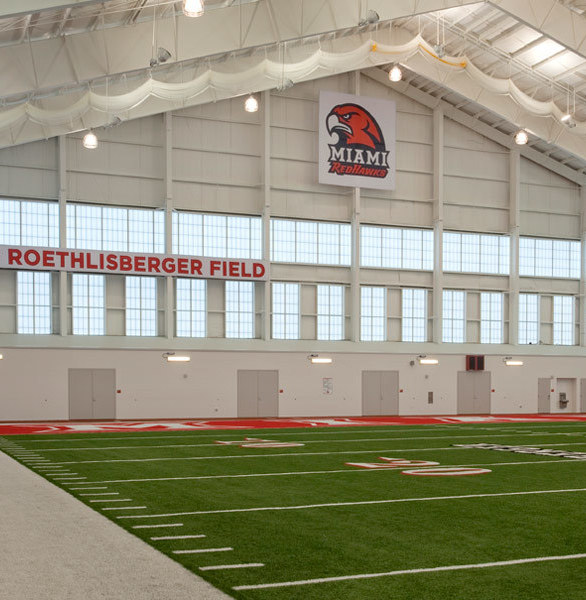 Major Industries provided their Guardian 275 Wall Systems to the indoor sports complex in Oxford, OH.