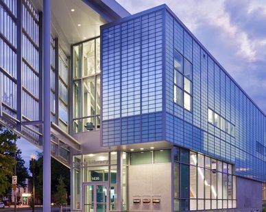 Striking exterior of the Shaw Library in Washington D.C. features the Guardian 275® Wall System by Major Industries.
