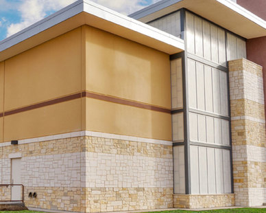 Shown here is the exterior view of Trinity Church which installed the Guardian 275® Wall System by Major Industries.