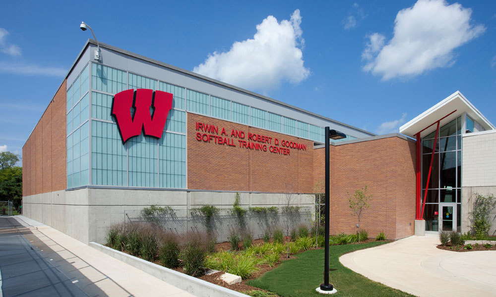 The University of Wisconsin Madison chose to go with Major Industries Guardian 275® Wall System for their Softball Training Center.