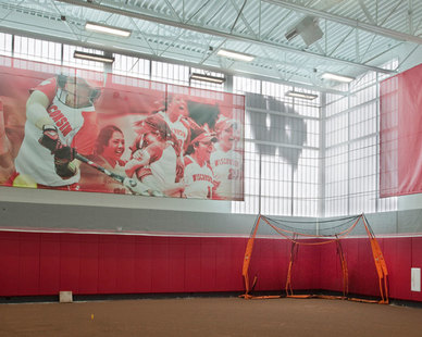 Major Industries Guardian 275® Wall System lets light flood into the training center without there being a glare.