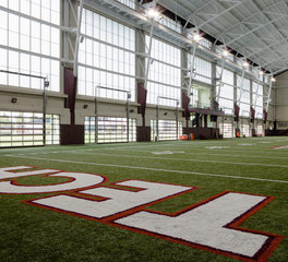 Major Industries Virginia Tech University Indoor Practice Facility translucent panel system