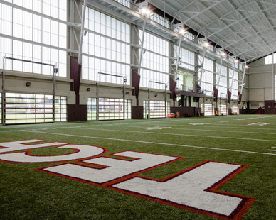 Major Industries used their Guardian 275® Wall System - Verti Lite Grid Pattern for the Indoor Practice Facility at Virginia Tech University in Blacksburg, Virginia.
