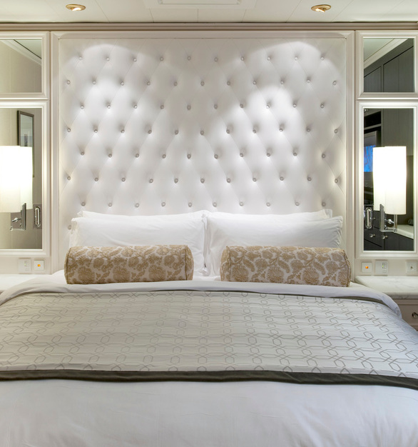 Tabu Veneer panels by Materials Inc. were used as part of the bedroom unity designs on the Crystal Serenity Cruise Line.