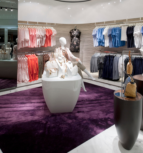 Retail space design on the Crystal Serenity Cruise Line featuring Tabu Veneer panels by Materials Inc.