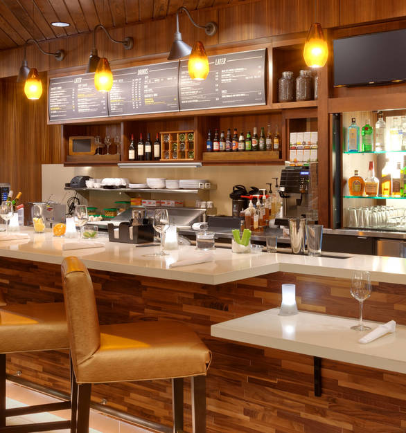 Take your bar design to the next level with Listello Wood Surfaces by Materials Inc.