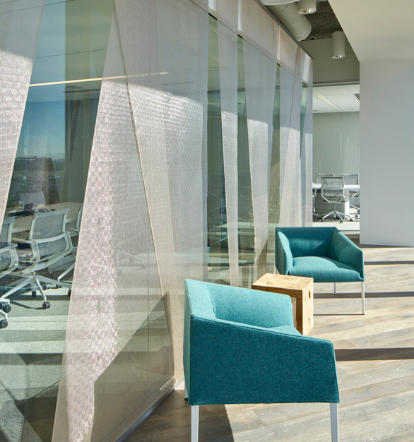 The Metal Mesh woven textiles, by Materials Inc., adds a unique design element to your interior and exterior spaces.