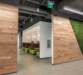 Materials Inc MIC Global Plano Texas Hydra Moss Wall System Office Hallway