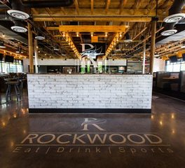 Materials Inc. Rockwood Sports Bar Gainesville Virginia Harmony Multi-Toned Wood Flooring Hydra Moss Wall System Entrance