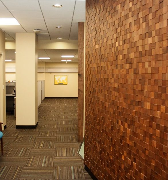 Give your hallway a facelift with Tree-D Mosaics by Materials Inc.