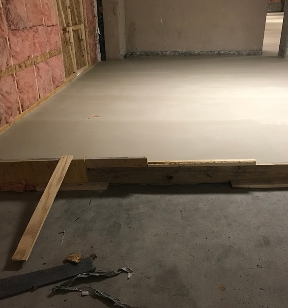 Maxxon Level Right®, Level Right® LDF was installed to ensure a level surface for the renovation to take place on.