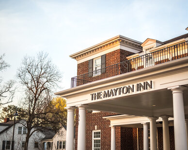 The Mayton Inn in Cary, North Carolina offers the amenities of a first-class hotel with the intimacy of a Bed & Breakfast.   Each guest room or suite has a distinctive character from Classic to Art Deco styling.   The hotel is committed to environmentally responsible building and living from the efficient bathroom fixtures to a fully integrated energy management system in the guest rooms.