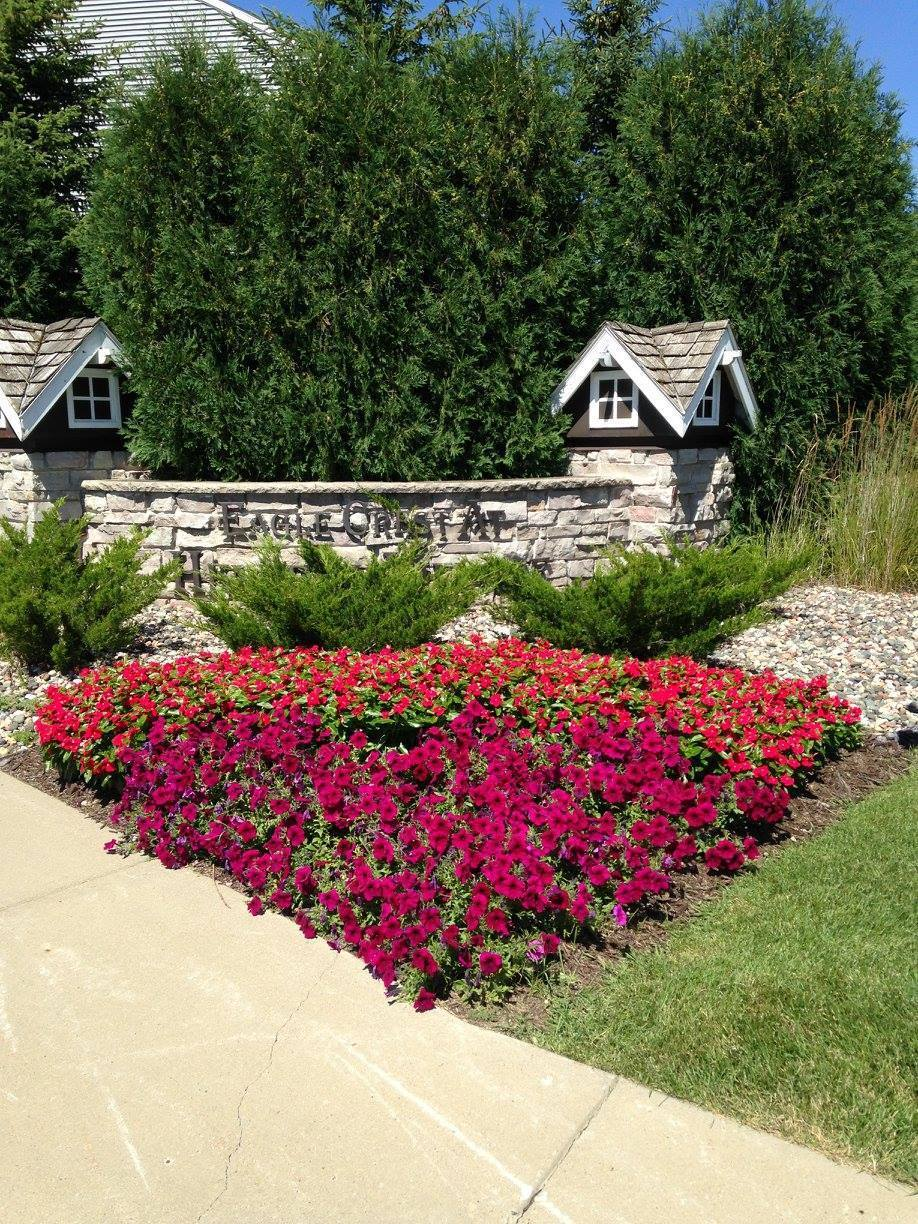 Bright and colorful landscape design by McCaren Design.