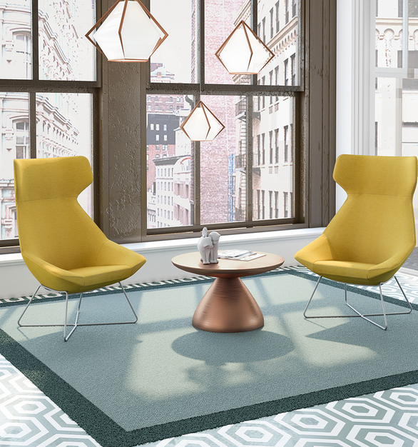 The Jax Collection offers a variety of seating options with its signature style across all models, enabling cohesive design from the lobby to meeting spaces, and even in executive suites.