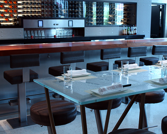 Beautiful glass table in Lukshon located in Culver City, CA