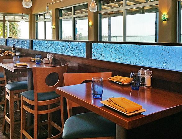 Restaurant Partition at Fin's Restaurant in Venice, FL.